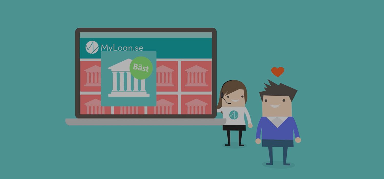 Myloan jämför banker och lån